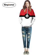 2016 New Design 3D Digital Printing Sweatshirts Women's Men's Long Sleeve Hooded Pokemon Go Personalized Pullover J4016