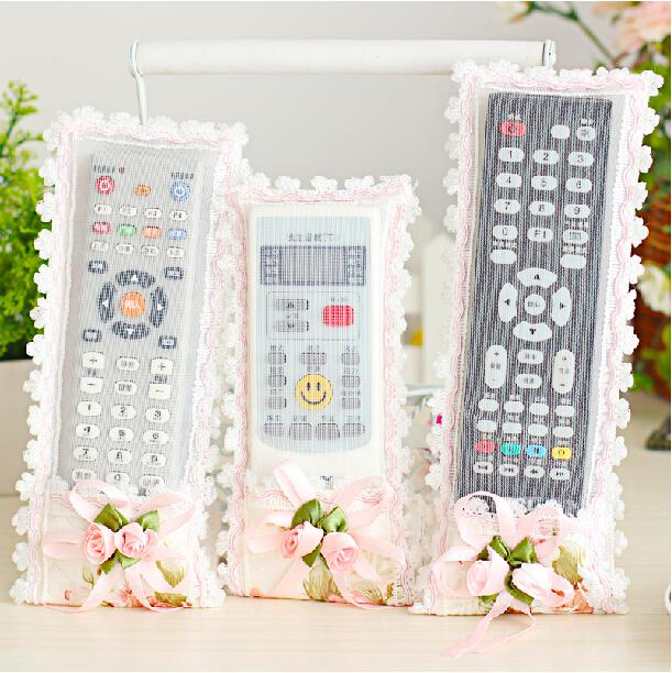 Cotton 100% remote control set big Small remote control cover dust cover tv remote control cover(China (Mainland))