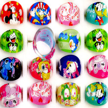 Buy Wholesale 10Pcs/lot Lovely Cute Kids Cartoon Resin Lucite Rings Children Kids Party Cartoon Rings Lot Best Gift Color Random for $1.12 in AliExpress store