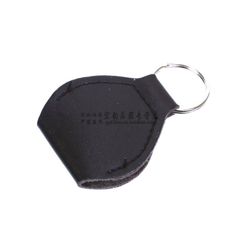 50 pcs/lot PU Leather Guitar Pick-Bag Picks Holder Guitarra Plectrum Case with Keychain 3 colours available Free Shipping(China (Mainland))