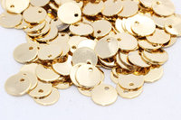 Raw Brass 25 Pcs (10mm) Gold Plated Round Charms , Round Disc - Gold Plated Stamping tag , RD