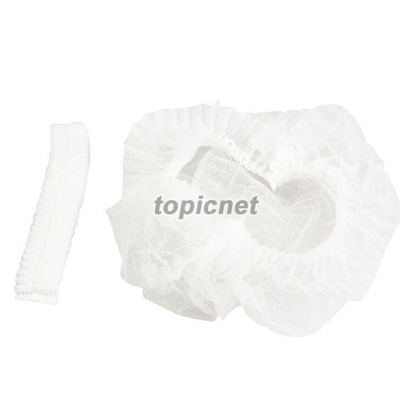 ASLT 100PCS Disposable Hair Shower Cap Non Woven Pleated Anti Dust Hat Set White(China (Mainland))