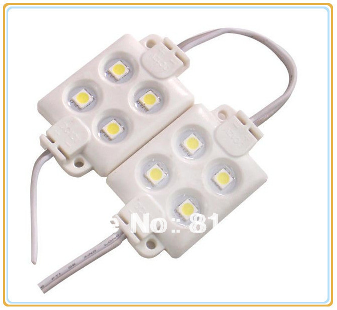 ABS plastic 4 pieces 5050 SMD LED module light LED light 3M adhesive back High brightness IP65 waterproof string 50 pcs/lot<br><br>Aliexpress