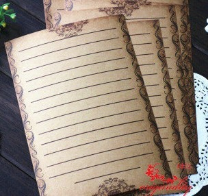 Retro European Style 14.5x21cm Vintage Floral Letter Paper Writing Paper 15sets/lot (8 sheets/set) Free shipping<br><br>Aliexpress