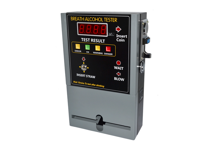 2014 hot professional coin operated alcohol tester/breathalyzer machine for bar /restaurant /hotel in russia AT-808(China (Mainland))