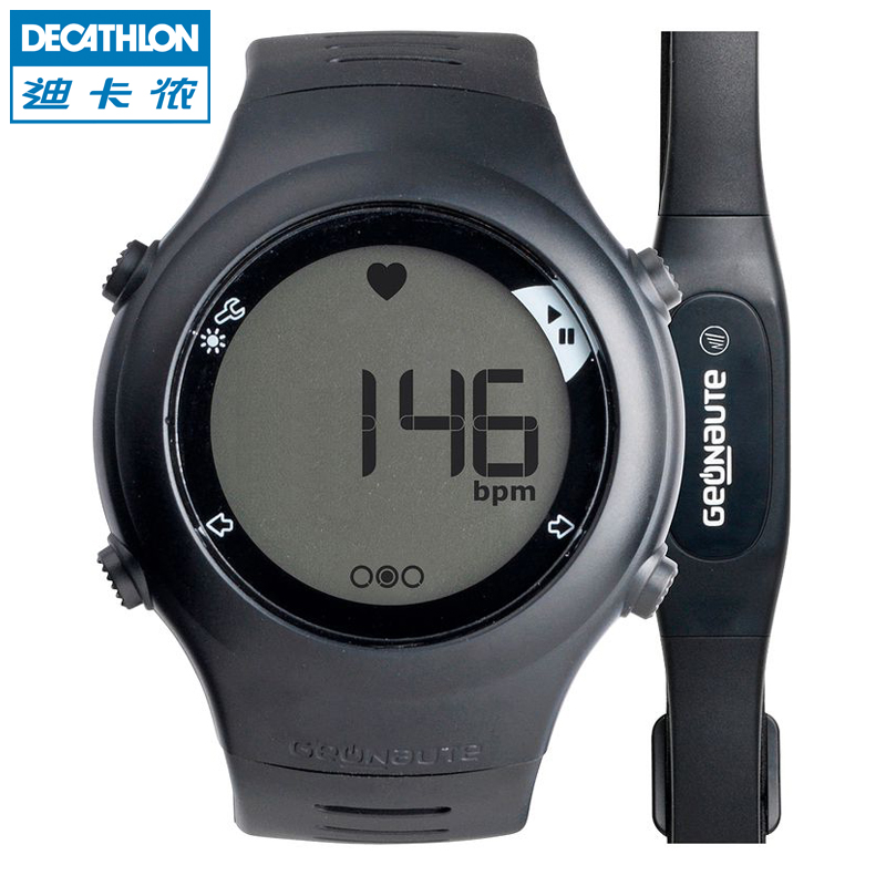 Heart rate table has a chest belt movement of electronic watches GEONAUTE 110 running outdoor decathlon for men and women(China (Mainland))