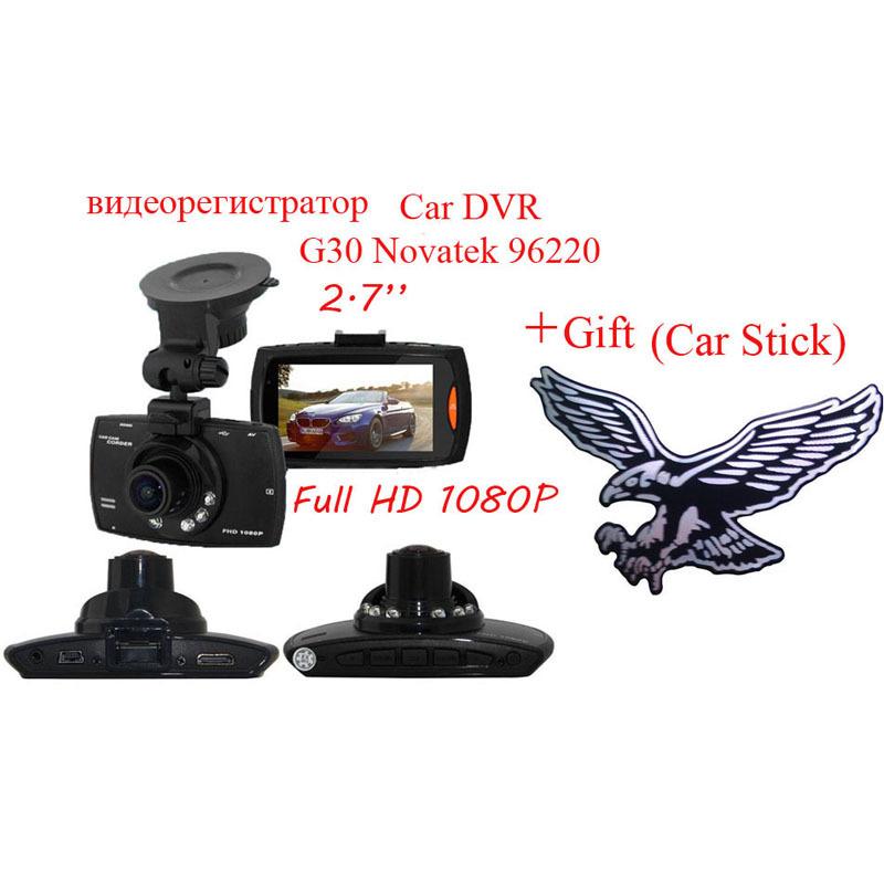 2.7'' Car DVR Mirror Camera G30 Novatek 96220 FHD 1080P Vedio Recorder Motion Detection Night Vision Mini DVRs Car Sticker(China (Mainland))