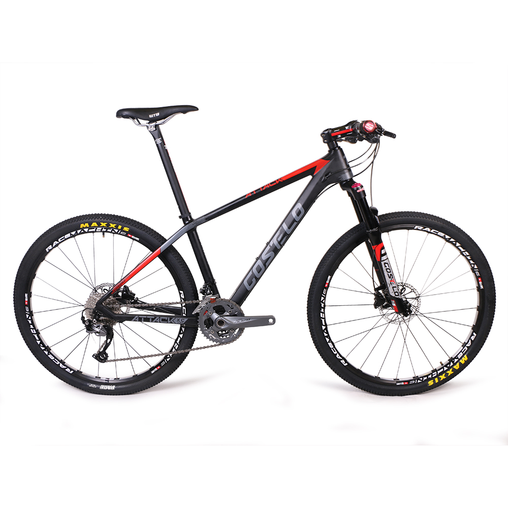 costelo ATTCKA 27.5 26er complete bike downhill Mountain Bike complete Double DISC Brake Wheel Mountain Bicycle free