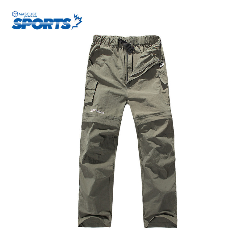 New Arrival Men Quick Dry Outdoor Pants Summer Breathable Removable Hiking Camping UV Protection Pants Hot Sale(China (Mainland))
