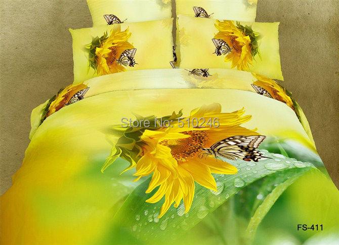 online kaufen gro handel druck sonnenblumen bettw sche set. Black Bedroom Furniture Sets. Home Design Ideas
