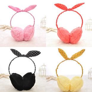 [해외]슈퍼 멩 귀여운 인형 핑크 토끼 귀 토끼 귀 따뜻한 방한용 귀..