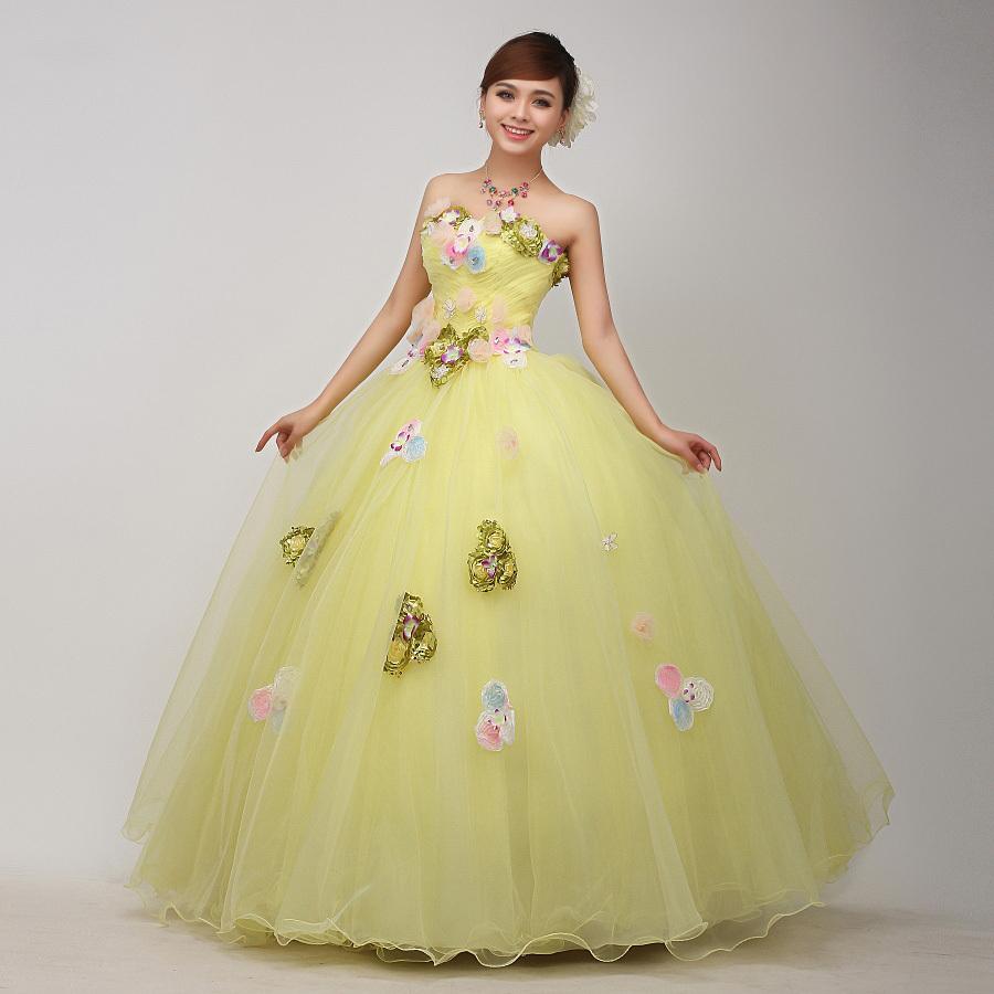 100%real venice carnival yellow flower medieval dress princess Renaissance Gown queen Victorian /Marie/ Belle Ball/ball gownОдежда и ак�е��уары<br><br><br>Aliexpress