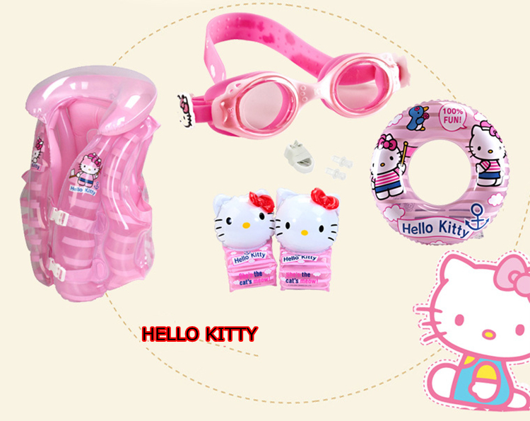 New Inflatable Toy Baby&Kids Swimming Pool Accessories set 8 in 1 Swimming arm Ring Goggles Vest Circle Ring Nose clip Ear plugs(China (Mainland))