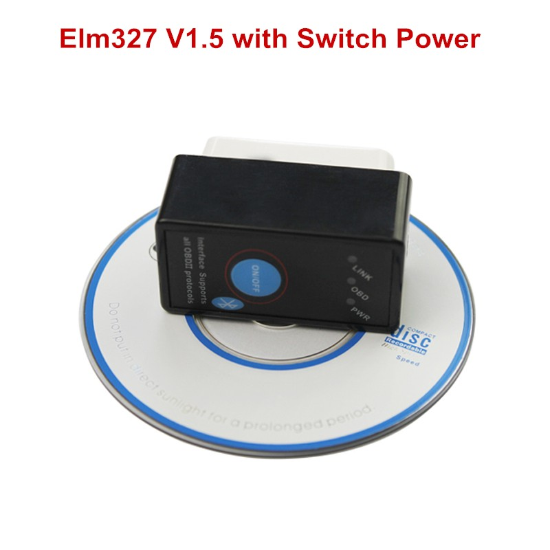 2016 Newest Auto Code Reader Super Mini ELM327 V1.5 ELM 327 Bluetooth OBDII OBD OBD2 Scan Tool with Power Switch(China (Mainland))