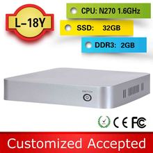 low price ncomputing wireless mini pc linux server cheapest computer L18Y N270 1.6G HZ 2G RAM 32G SSD support Ubuntu Linux 12.04