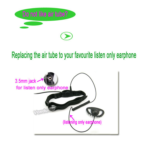 Single sensor throat vibration earphone for Yaesu Vertex wireless radio VX170 VX177 VX120 VX127<br><br>Aliexpress