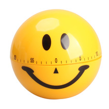 Buy Mechanical Smiley Face Kitchen Cooking Timer Alarm 60 Minutes Yellow TB Sale for $2.79 in AliExpress store