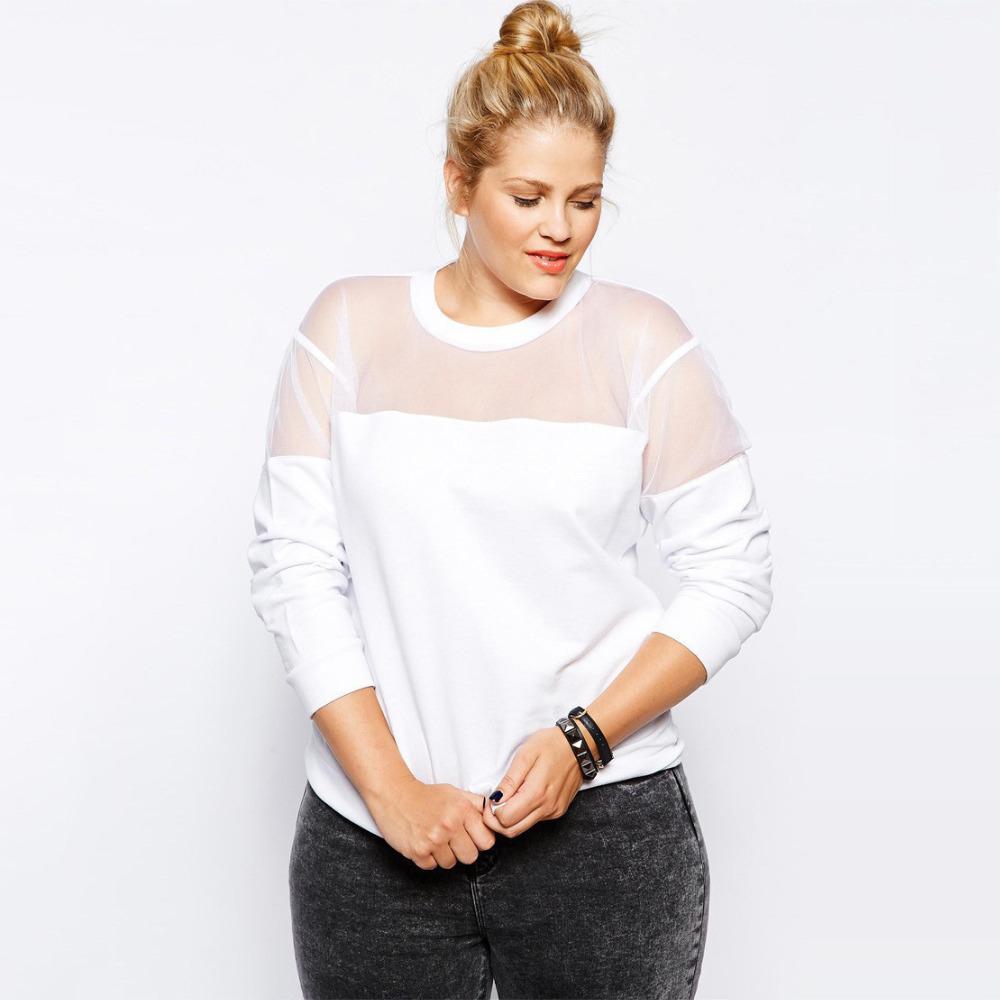 buy mesh patchwork t shirt xxxl 6xl plus size women clothes street style spring. Black Bedroom Furniture Sets. Home Design Ideas
