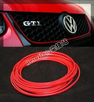 Red Moulding Line Strip Sticker Adhensive 3M Grille Interior, Universal Car Decorative Thread, Interior trim, Exterior Trim