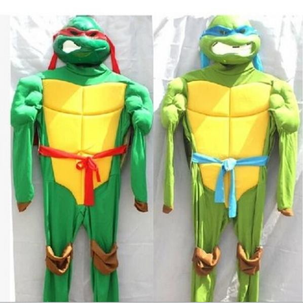 Free Shipping Dragon Ball Z Costumes Cosplay Kids Teenage Mutant Ninja Turtles Costume Deluxe Full Sets(China (Mainland))