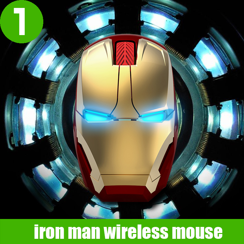 2015 iron man mouse wireless mouse gaming mouse for laptop pc,2.4g mouse Glow creative personality(China (Mainland))