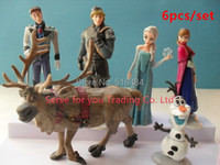 6pcs/lot Anime Baby Toy Action Figures Princess Brinquedos Elsa Anna Doll Lovely Hans Kristoff Sven Olaf Dolls For Kids In Stock