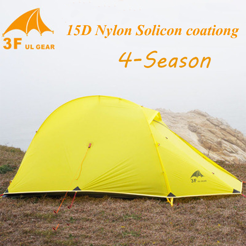 3F UL GEAR Outdoor Ultralight Camping Tent 15D Silicone Nylon Waterproof Winterized Tents Camping Fishing Hunting Tenda(China (Mainland))
