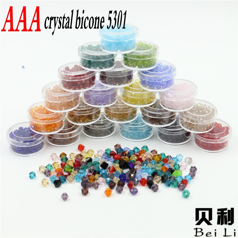 Hot Mixed Colors Top Aaa Bicone Beads Pcs Mm Crystal Glass Beads For Curtain Bracelet Necklace Jewelry Making