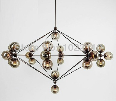 Modern Glass Chandeliers Modo Chandelier 15 globes Jason Miller pendant lamp Droplight Living Room Dining Room roll hill lamp(China (Mainland))