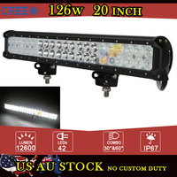 CREE 126W 20 Inch LED Work Light Bar Offroad Combo Beam LED Fog Light 12V 24V For Car Truck Tractor Trailer ATV UTV 4WD 4X4 SUV