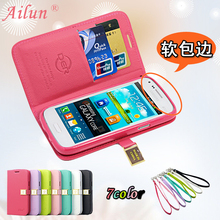 For Samsung Galaxy Core I8260 I8262 8262 Ailun PU Flip Leather Cover Flip Case For Samsung I8262 Mobile Phone Accessories  Bags