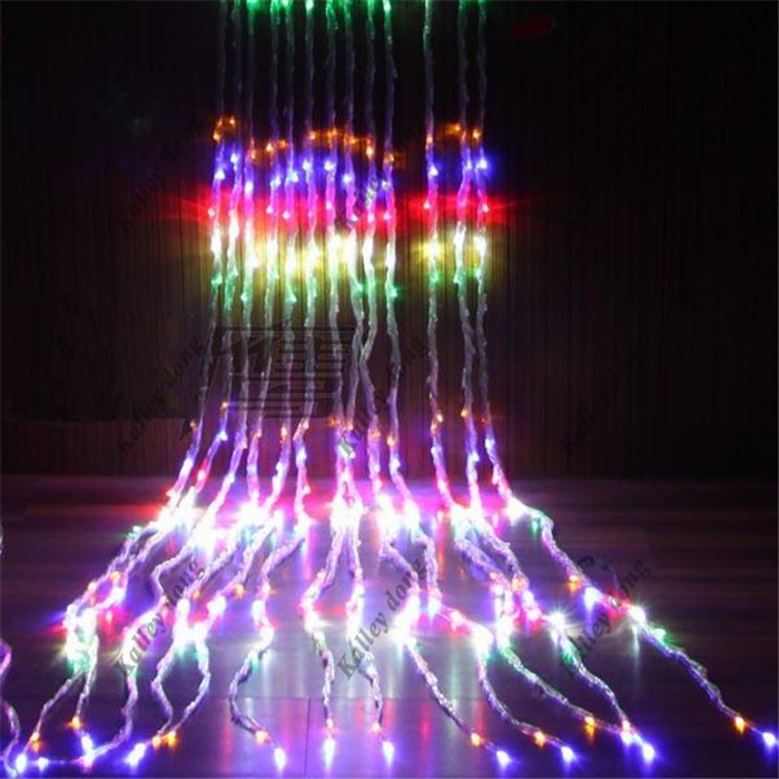 Fairy 3m * 3m 320 LED Waterfall Christmas lights new year holiday party wedding Home luminaria decoration Curtains Garland lamps(China (Mainland))