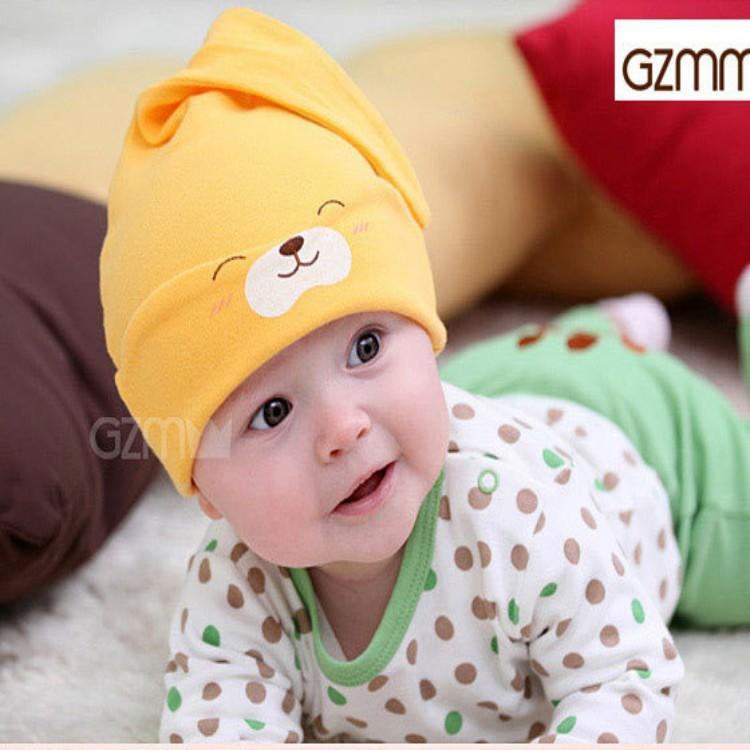 manufacturer of baby beanie fashion cotton sleeping hats infant toddler kids designer caps hot sale(China (Mainland))