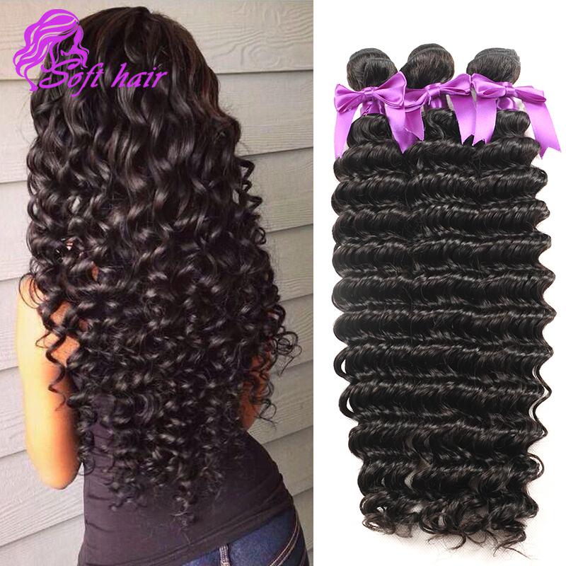Top Quality Malaysian deep wave 10A Malaysian deep wave virgin hair bundle deals 3pcs unprocessed human Malaysian virgin hair(China (Mainland))