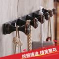 Free Shipping Wholesale And Retail Solid Brass Oil Rubbed Bronze Bathroom Hooks Hangers Flower Carved Towel