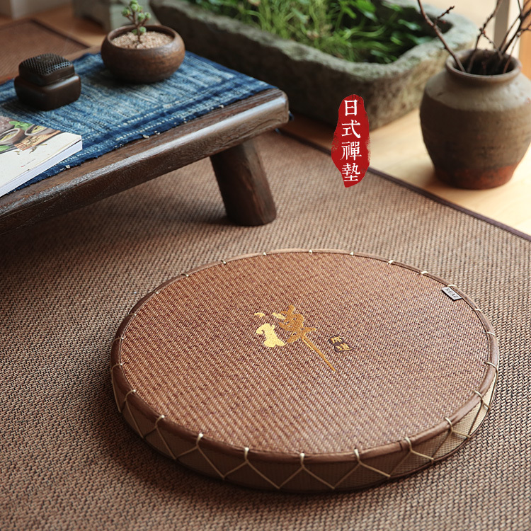 Free shipping Japanese futon cushion windows and tatami mats cushion round Zen cool the heat exported to Japan<br><br>Aliexpress