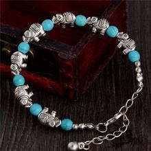 Fashion Bohemia stylish shiny elephant shape Turquoise Beads charming Bracelet Handmade Accessories Fashion Jewelry(China (Mainland))