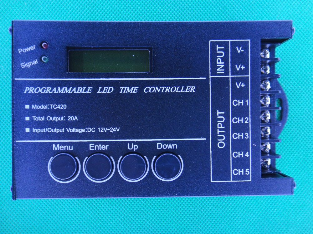 New Led Time Program Controller DC12V 20A Programmable Time Setting Led Controller LED RGB Strip Controller TC420 Free Shipping(China (Mainland))