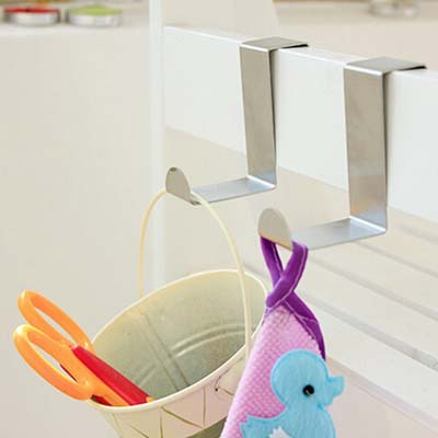 2015 Stainless steel metal hook decorative wall hanger coat hooks ganchos colgadores perchero pared for towels bath accessories(China (Mainland))