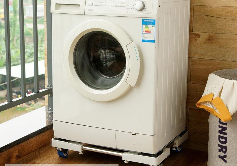 Фотография Bathroom Shelves washing machine washing machine frame bracket base tray with movable wheel brake damping