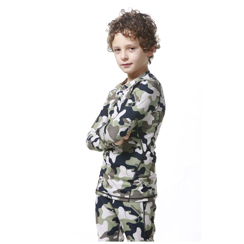 Camo Compression Kids Soccer Basketball Running T Shirts Children Skin Base Layer Gear Tights Football Jersey Long Sports Shirts(China (Mainland))