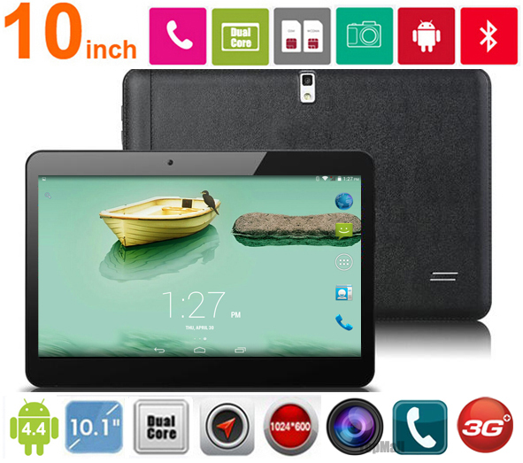 Big discount! 10 inch MTK6572 Dual Core 3G Phone Call Tablet Dual cameras Dual SIM Cards GPS+WIFI+Bluetooth 1G+8G free shipping!(China (Mainland))