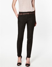 Spring Summer &Autumn Excellent Quality Elegant Fashion Ladies Pencil Pants, Women Trousers With Belt(China (Mainland))