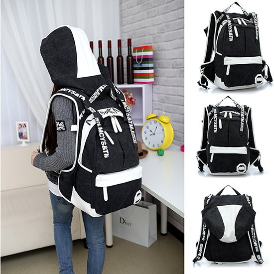 The new factory direct 2015 Classic stripes backpack emoji backpack school bags men and women casual