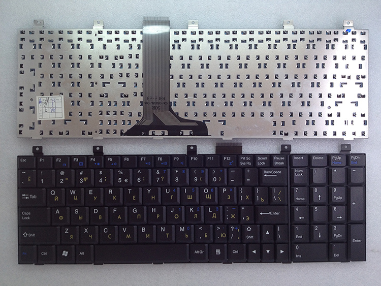 Free Shipping ! New keyboard Replacement For MSI EX600R EX610 700P CR600 VX600 L700 EX623 RU keyboard(China (Mainland))