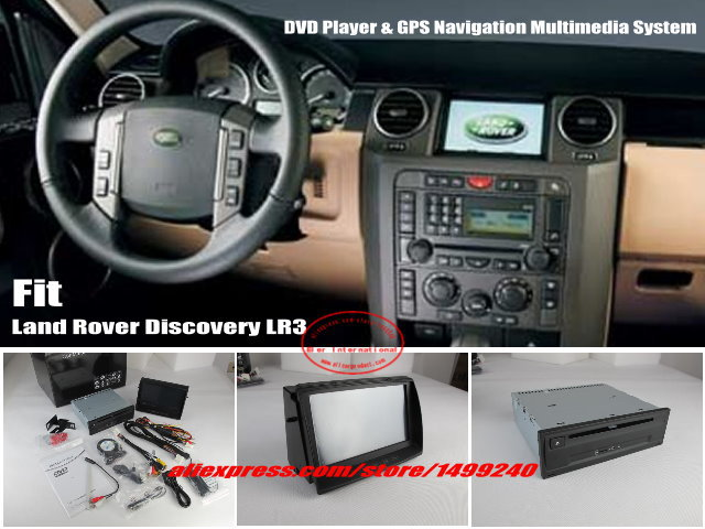 """For Land Rover Discovery 3 LR3 - Car Stereo DVD Player & GPS NAVI Navigation System + 8"""" HD Touch Screen Bluetooth iPod AUX USB(China (Mainland))"""