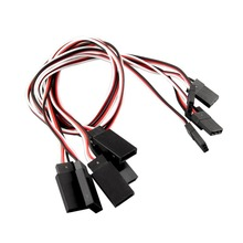 Buy 0.3cm 5pcs RC Servo receiver Y Extension Cord Cable connecting Wire 300mm JR IC connector for $1.32 in AliExpress store