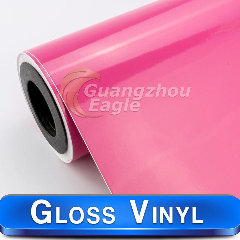 2016 New Pink Car Vinyl Wrap Glossy Vinyl Wholesale Auto Decoration Car Sticker 1.52*30m(China (Mainland))