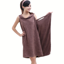 Unisex New Womens Body Wrap Bath Microfiber Towel Spa Shower Robe Bathrobe Absorbent Dressing Gown Wearable 5 Color (nx111)(China (Mainland))