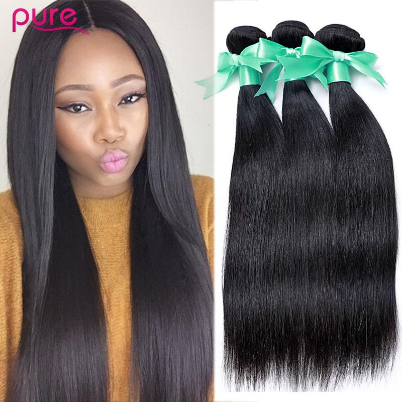 Queen Hair Products 7A Peruvian Virgin Hair Straight 3 Bundles Unprocessed Human Hair Weave Soft Peruvian Straight Virgin Hair